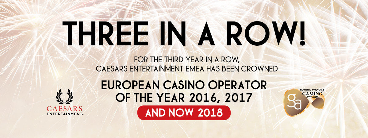 European Casino operator of the year 2016/2017/2018